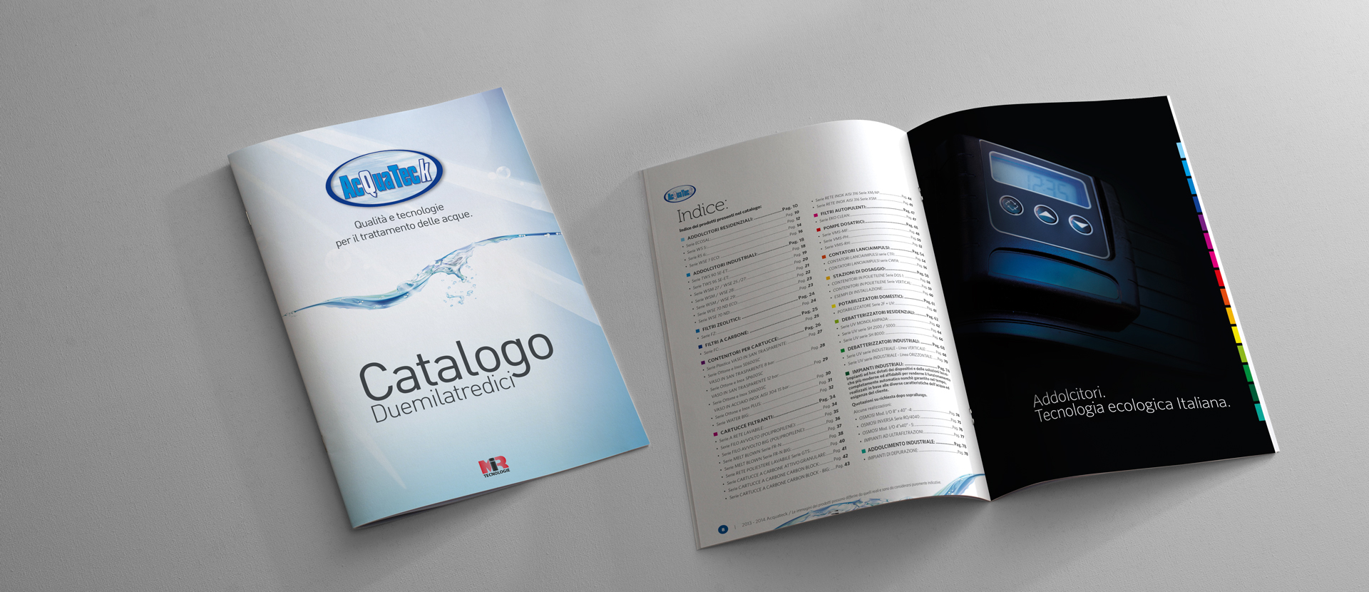 catalogo acquateck di mir paolo moretti graphic design